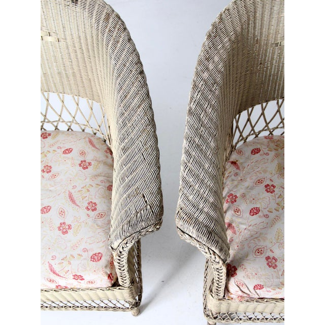 Late 19th Century Antique Wicker Chair and Rocker For Sale - Image 5 of 11