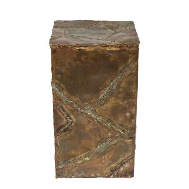 Gold Silas Seandel Brutalist Patchwork Column Pedestal For Sale - Image 8 of 8