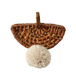 "Christmas Tree Ornament ""Ulu"" - With Blushed Ivory Pom-Pom For Sale"