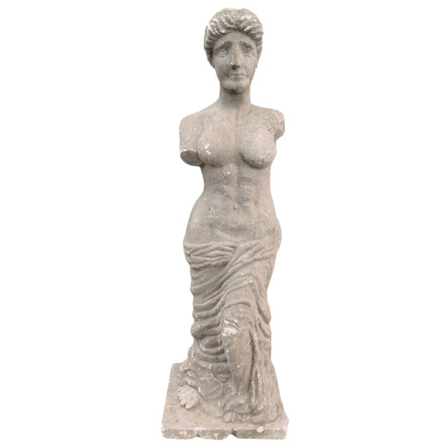 Italian Stone Female Statue - Image 1 of 4