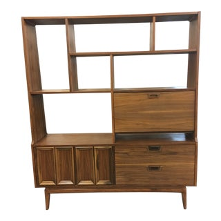 Mid Century Freestanding Wall Unit For Sale