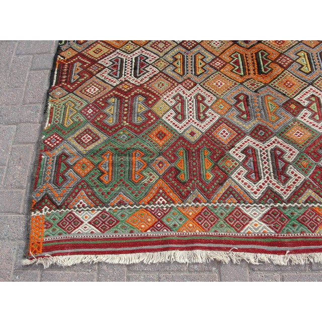 kilim rug turkish handmade 6 3 7 8 chairish. Black Bedroom Furniture Sets. Home Design Ideas