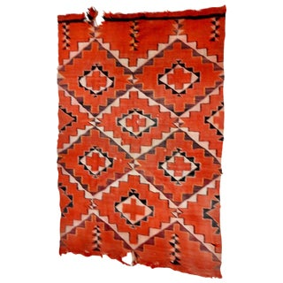 Early 20th Century Handwoven Navajo Transitional Textile For Sale