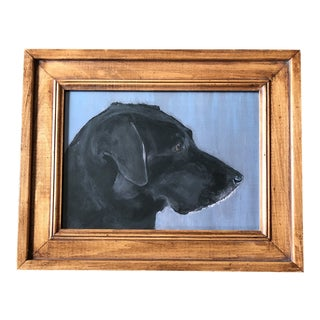 Contemporary Black Lab Dog Print by Judy Henn For Sale