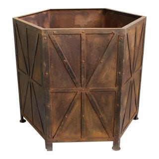 Large Octagonal Iron Planter Box For Sale