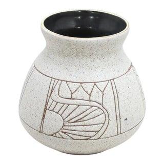 Mid-Century Abstract Pottery Vase