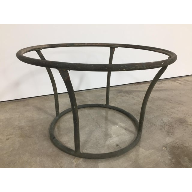 Kipp Stewart Bronze Age tubular side table for Terra Furniture, produced for a limited time, circa 1960s. Bronze tubular...