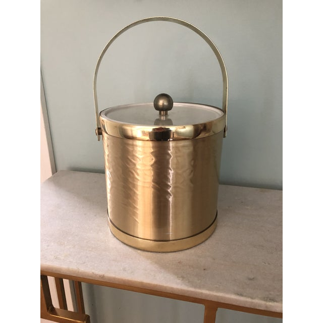 Gold Towle Vintage Gold Metal Insulated Ice Bucket For Sale - Image 8 of 8