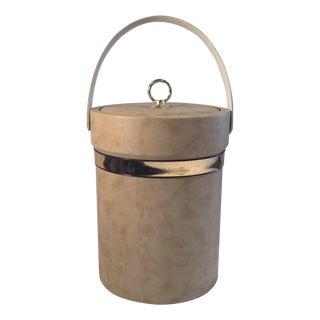 Mid-Century Camel Vinyl Ice Bucket