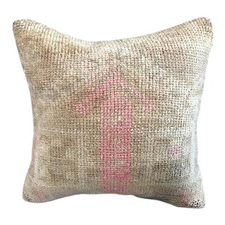 Faded Pale Pink Turkish Organic Wool Pillow Case