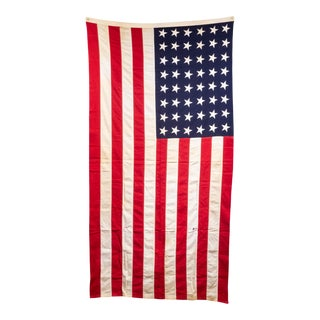 Early 20th C. Monumental American Flag With 48 Stars C.1940-1950 For Sale