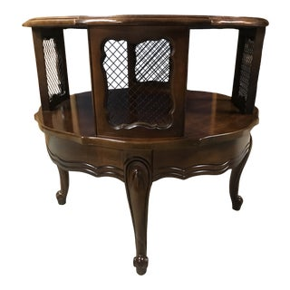 Round 2 Tiered French Provincial Side Table For Sale