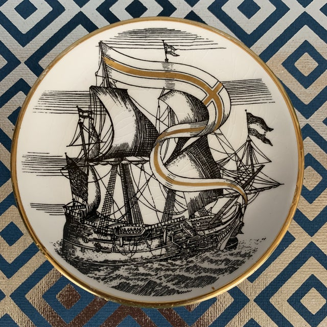 Italian Fornasetti Vintage Cocktail Coasters - Set of 5 For Sale - Image 3 of 13