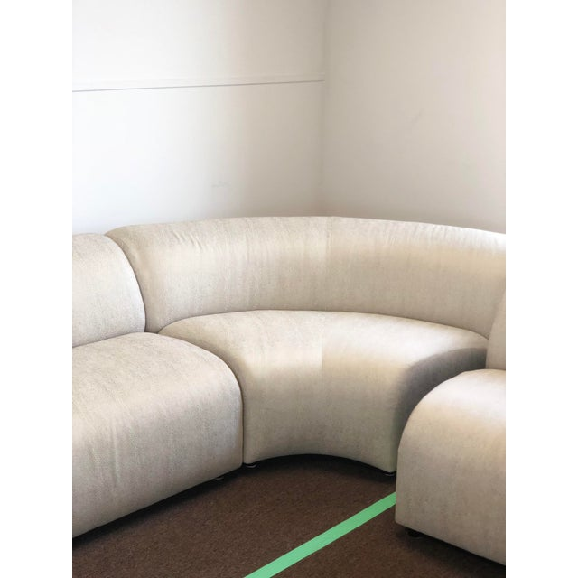 Textile 1990s Vintage Vladimir Kagan Curved Sectional Sofa For Sale - Image 7 of 13