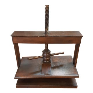 1990s Traditional Maitland Smith Mahogany Book Press For Sale