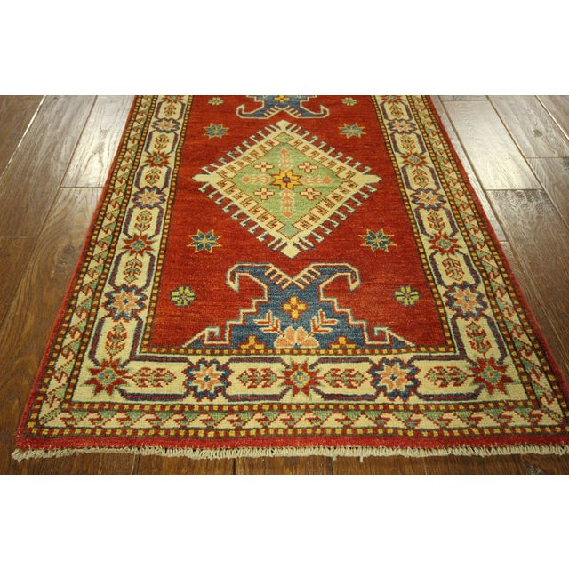 "Shirvan Red Kazak Runner Rug - 2'8"" x 9'6"" - Image 5 of 10"