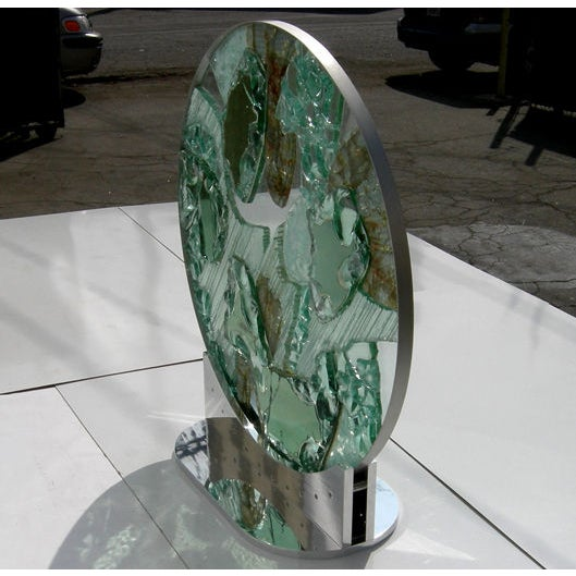 Large Free Standing Glass Sculpture by Kamp - Image 2 of 8