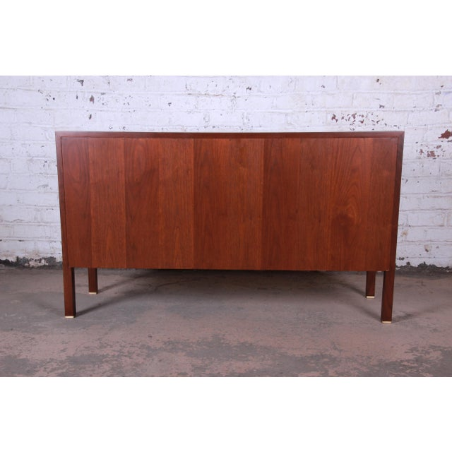 1950s Edward Wormley for Dunbar Curved Two-Piece Corner Credenza For Sale - Image 11 of 13