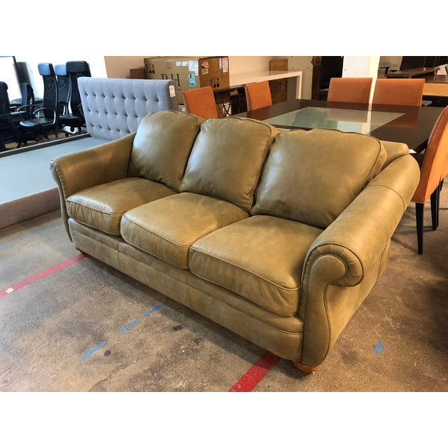 Bradington Young Full Hide Nubuck Leather Sofa Chairish
