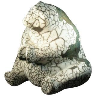"Raku Pottery ""Polar Bear"" by Tony Evans For Sale"