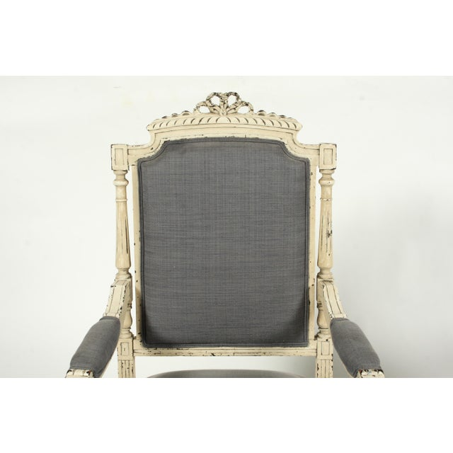 Late 19th-C. French Louis XVI-Style Armchairs, Pair For Sale - Image 4 of 13