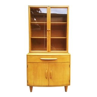 Mid Century Modern Heywood Wakefield Style China Cabinet For Sale