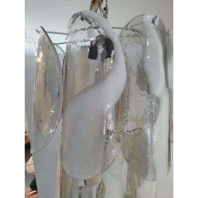 Metal Mazzega Murano Glass Chandelier For Sale - Image 7 of 10
