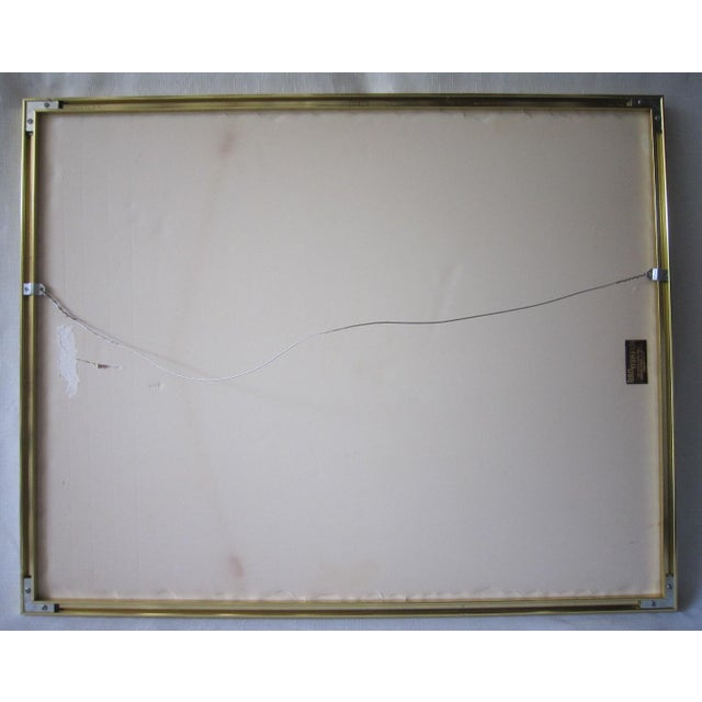 1970s Abstract Painting, Signed Davidoff For Sale - Image 5 of 6