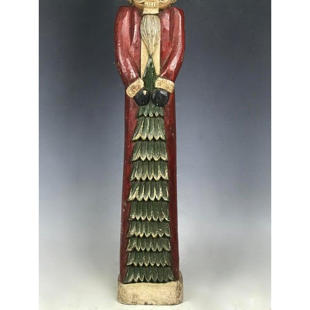 Wood Vintage Carved Wood Santa Claus Paper Mache Mold /Sculpture For Sale - Image 7 of 7