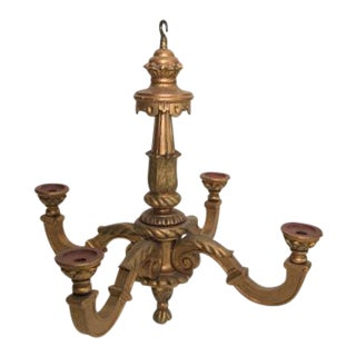 Vintage used wood chandeliers chairish antique gold gilt wood chandelier aloadofball Choice Image