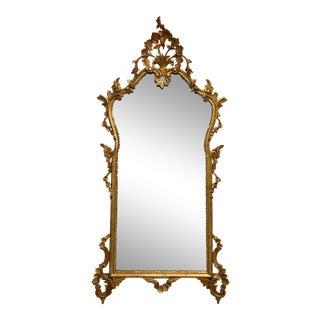 Italian Mid-Century Gilt Wood Mirror For Sale