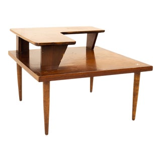 Merton Gershun for American of Martinsville Mid Century Two Tier Corner Table For Sale