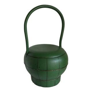 Vintage Asian Wood Basket, Vessel