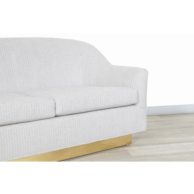 1970s Vintage Brass Loveseat by Milo Baughman for Thayer Coggin For Sale - Image 5 of 12