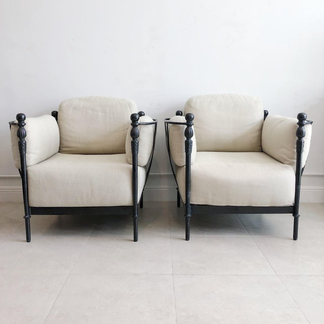 American Pair Michael Taylor Montecito Outdoor Lounge Chairs For Sale - Image 3 of 9