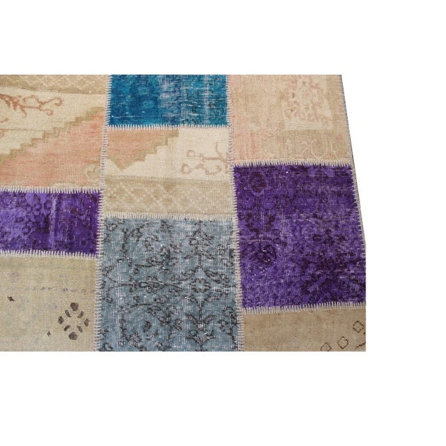 Turkish Patchwork Multicolored Rug - 8′ × 9′10″ - Image 3 of 7
