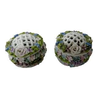 Elfinware Petit Porcelain Boxes - a Pair For Sale