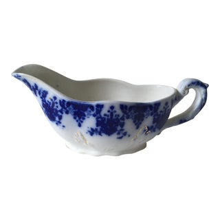 Flow Blue Gravy Boat For Sale