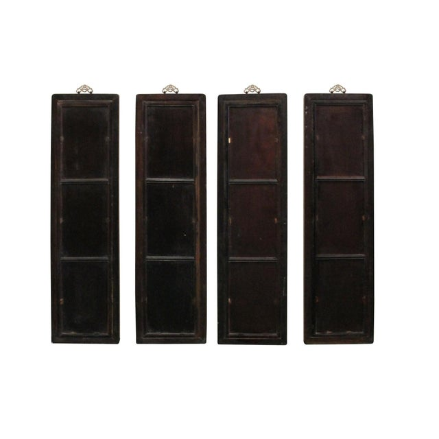 2010s Chinese Rosewood Dream Stone Scenery Wall Panel Set 4 Pieces For Sale - Image 5 of 8