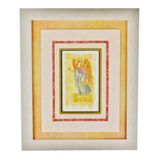 Vintage Carol McCrady Signed and Number Print of Arch Angel Raphael For Sale