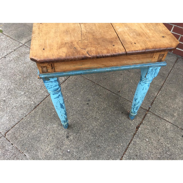 Antique American Pine Farm Table - Image 10 of 11