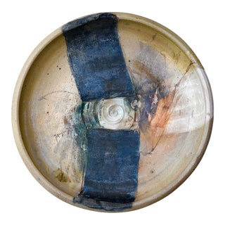 Sandra Johnstone Mid-Century Modern Ceramic Art Plate