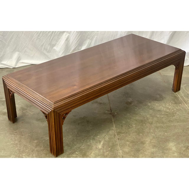 Lane Furniture Vintage Mahogany Lane Altavista Chippendale Coffee Table For Sale - Image 4 of 9