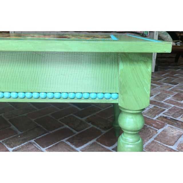 Hand Made Strie Artisan Cocktail Table - Image 4 of 6