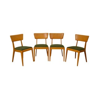Heywood Wakefield Champagne Finish Mid Century Dining Chairs - Set of 4