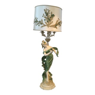 Art Nouveau Lady Lamp 5 Feet Tall
