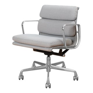 Eames Low Back Soft Pad Management Chairs in Fabric by Charles & Ray Eames for Herman Miller For Sale