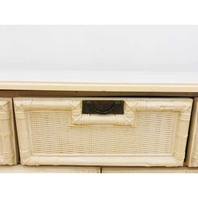 Vintage Hollywood Regency Style Dresser For Sale - Image 9 of 10