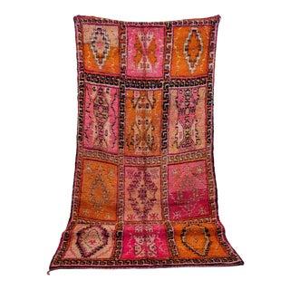 "Boujad Vintage Moroccan Rug, 6'0"" X 11'1"" For Sale"