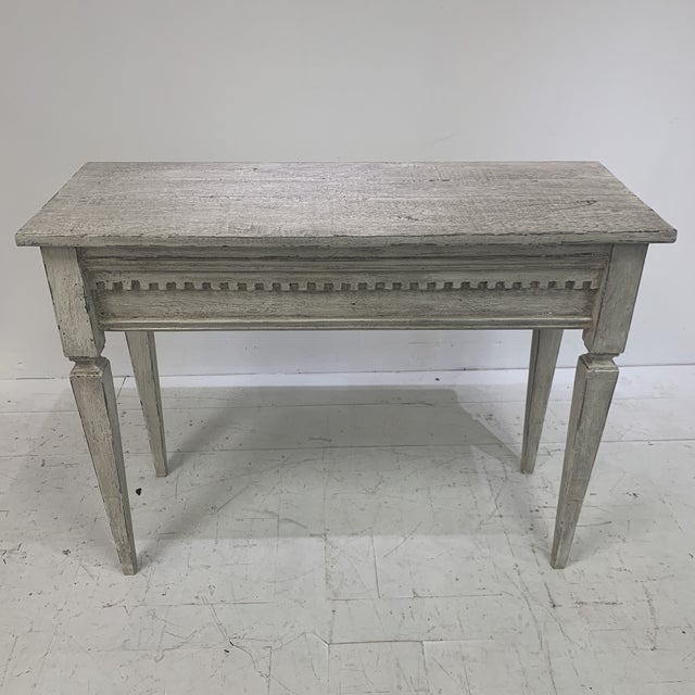 Wood 1990s Custom Console With Antique Pediment For Sale - Image 7 of 13